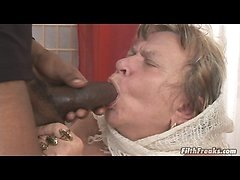 This old grandma loves big cock!