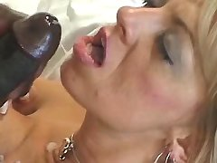Mature gets fucked by big black dick n gets facial