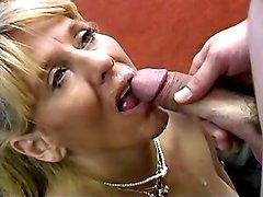 Blond mature slutty getting pumped