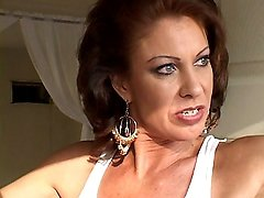 Sexy Brunette MILF Stripping