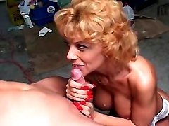 Blond mature fucks in all positions