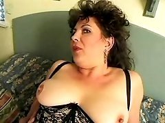 Chubby mom in sexy lingerie fucking