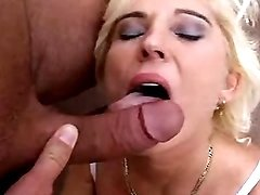 This perky mom likes to swallow cum