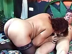 Fat Mommy is nailed hard in various positions