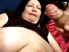 Big old woman gets cum