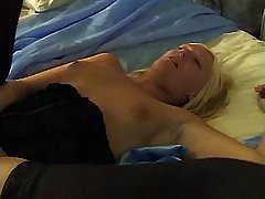 Mature blonde gets fucked hard in bed by black stud