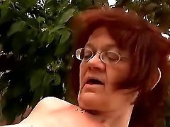 Granny bouncing on cock