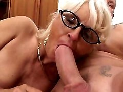Guys fuck lusty granny in all holes