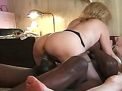 Two grannies suck black cock and fuck with blacky