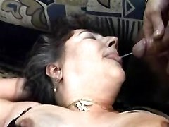 Lusty grannies get cum in groupsex