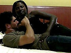Lusty African Amateur Goes Interracial
